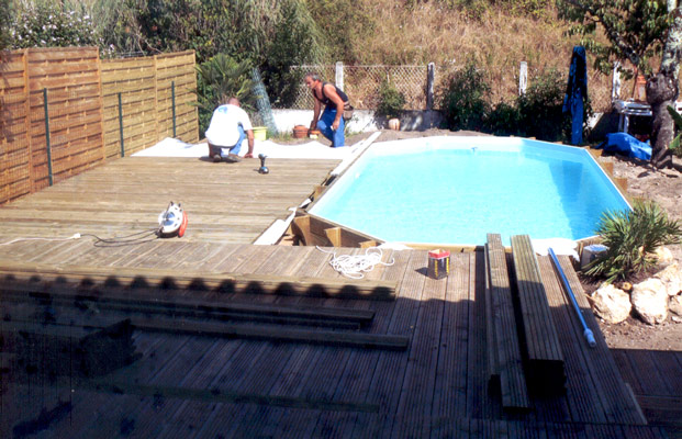 Piscine bois 6x3 for Prix piscine 6x3