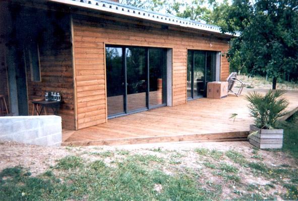 Bardage Bois Douglas : Bardage en pin Douglas d'une maison individuelle ? Baurech (Gironde)