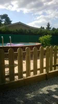Boisylva aquitaine multiservices construction bois les for Cloture bois piscine