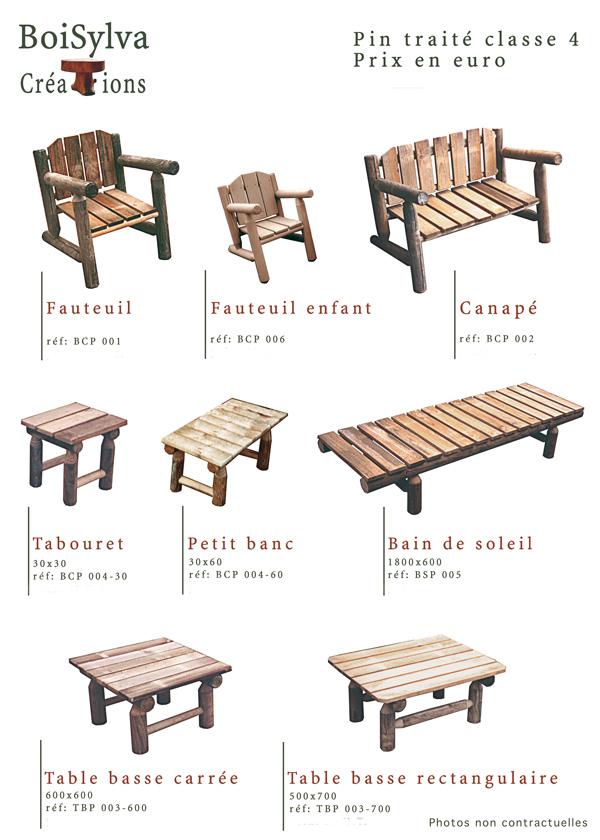 B.S.C. BOISYLVA CREATION - c\'est aussi le mobilier extérieur en bois