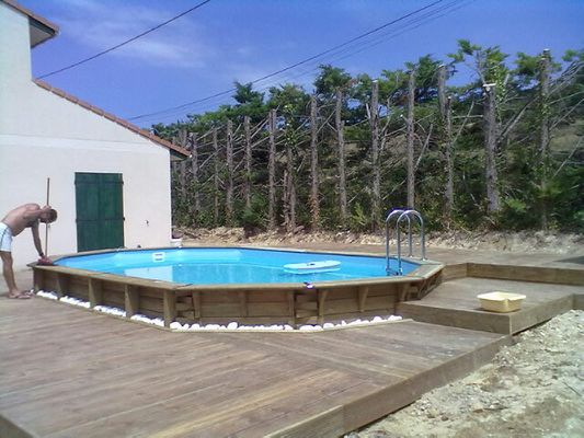 Boisylva aquitaine multiservices construction bois for Piscine en bois octogonale