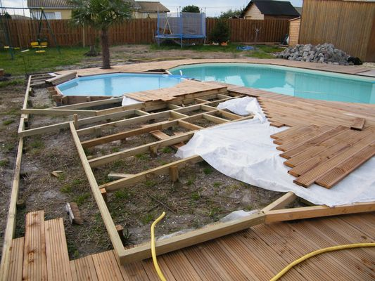 Boisylva aquitaine multiservices construction bois for Bois pour terrasse piscine